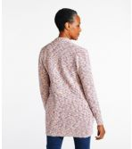 Women's Cotton Ragg Sweater, Open Cardigan Space-Dye