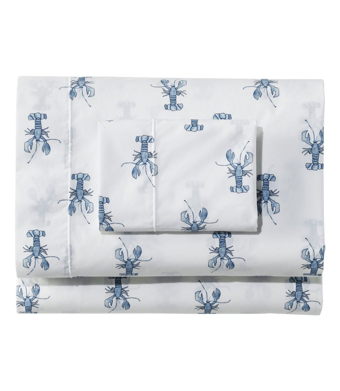 Sara Fitz Lobster Percale Sheet Collection