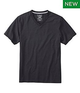 Men's Comfort Stretch Pima Tee, Short-Sleeve, V-Neck