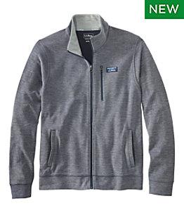 Men's Comfort Stretch Piqué Shirt, Full-Zip