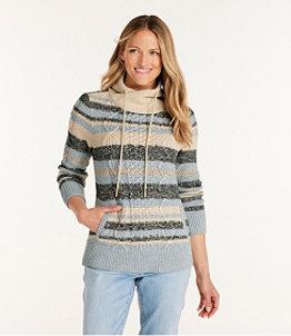 Women's Signature Cotton Funnelneck Sweater, Stripe