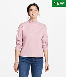 Women's Saturday T-Shirt, Long-Sleeve Mockneck