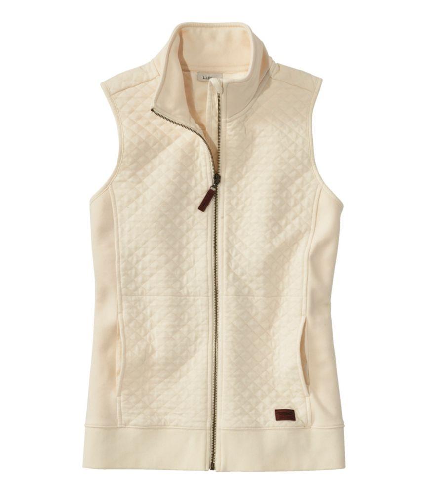 Women's Quilted Sweatshirt Vest