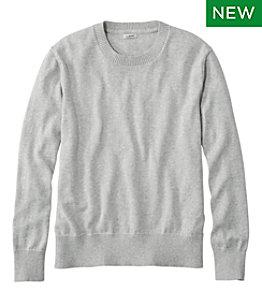 Women's Cotton/Cashmere Sweater, Crewneck