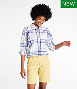 Women's Organic Classic Cotton Shirt, Plaid
