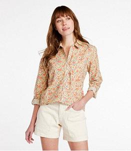 Women's Organic Classic Cotton Shirt, Print