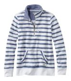 Women's Organic Cotton Sweatshirt, Quarter-Zip Pullover Print