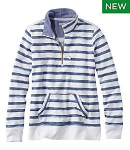 Women's Organic Cotton Sweatshirt, Quarter-Zip Pullover Print