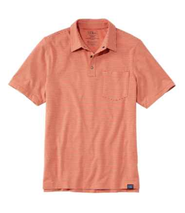 Men's Allagash Pima Cotton Blend Polo Shirt, Short-Sleeve, Stripe