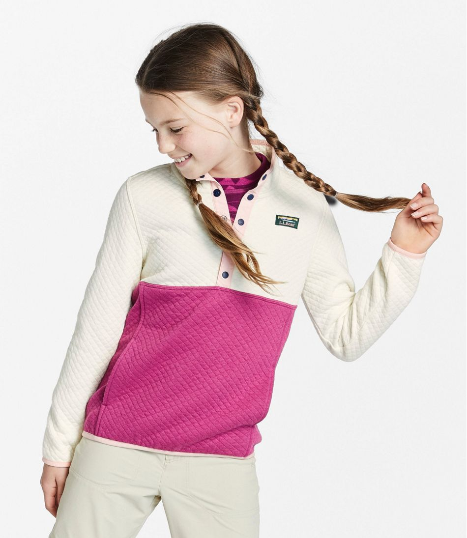 Kids' Quilted Quarter-Snap Pullover