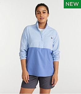 Women's SunSmart™ Shirt, Quarter-Zip Pullover Colorblock