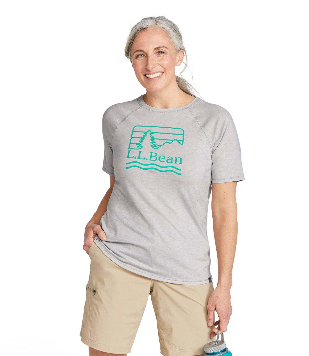 Women's Everyday SunSmart™ Tee, Crewneck Short-Sleeve, Graphic