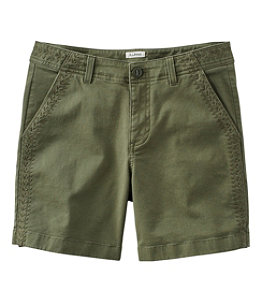 """Women's Lakewashed Chino Short 6"""" Embroidery"""