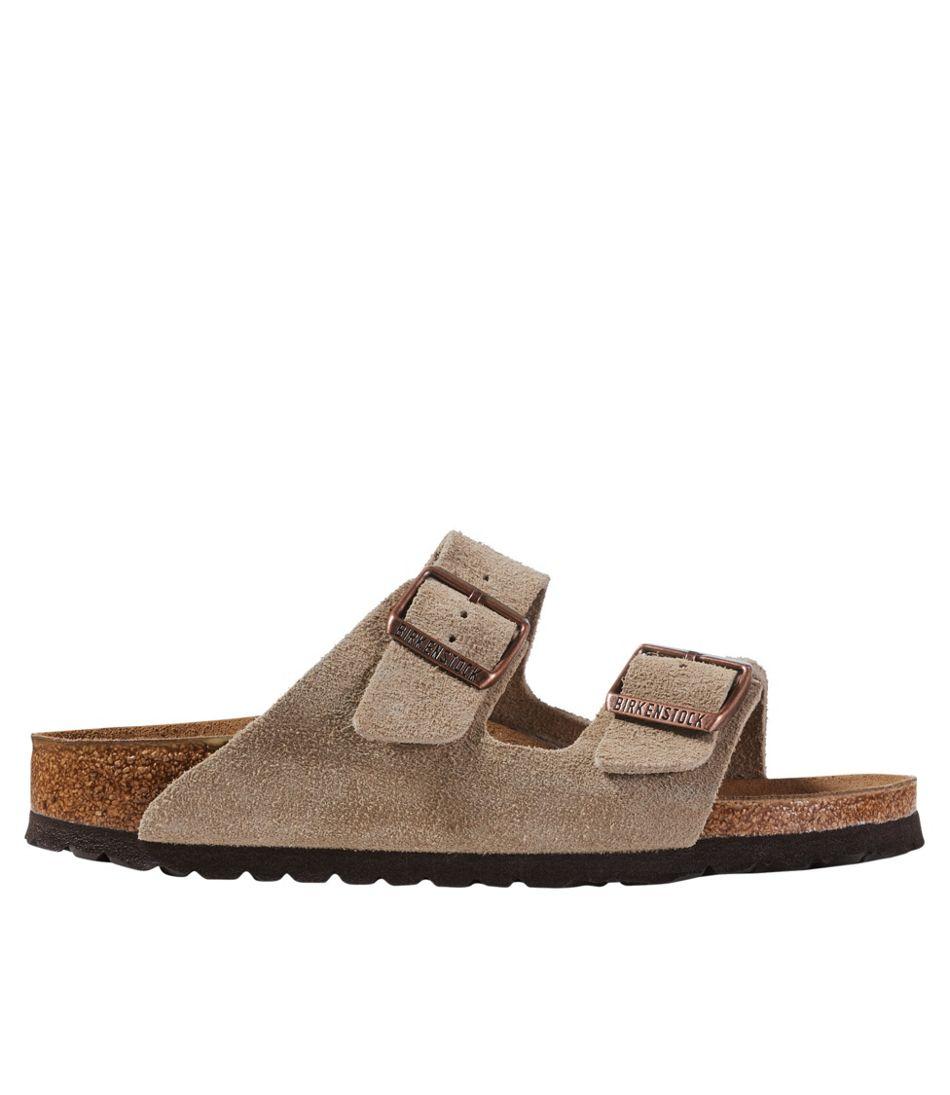 Women's Birkenstock Arizona Sandals, Suede, Classic Footbed