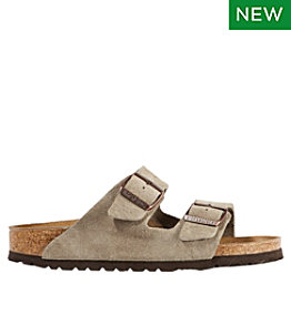 Women's Birkenstock Arizona Sandals, Suede, Classic Footbed