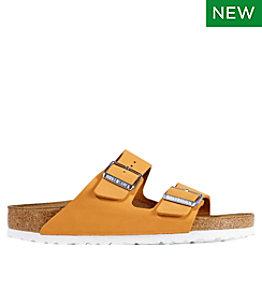 Women's Birkenstock Arizona Sandals, Nubuck, Soft Footbed