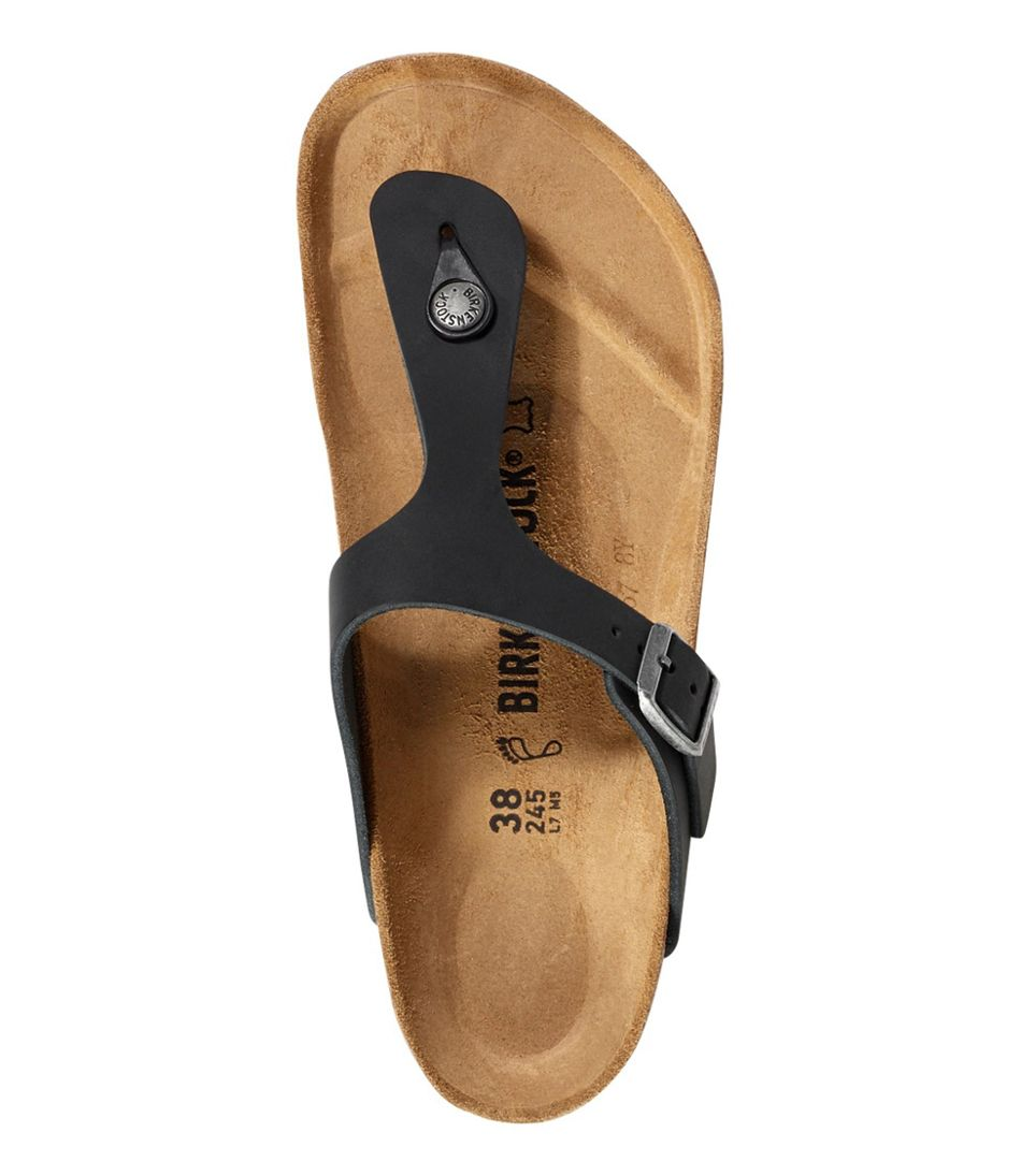 Women's Birkenstock Gizeh Leather Sandals, Classic Footbed
