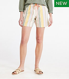Women's Lakewashed Dock Shorts, Stripe