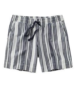 Women's Lakewashed Dock Shorts, Stripe
