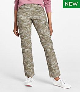 Women's Stretch Canvas Cargo Pants, Print