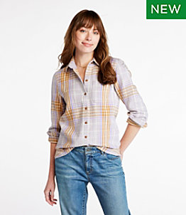 Women's Signature Heritage Textured Flannel Shirt, Plaid