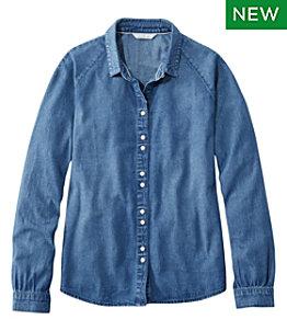 Women's Signature Denim Shirt, Washed