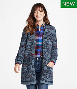 Women's Signature Ragg Wool Open Cardigan Pattern