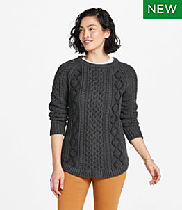 Women's Signature Cotton Fisherman Tunic Sweater, Rope