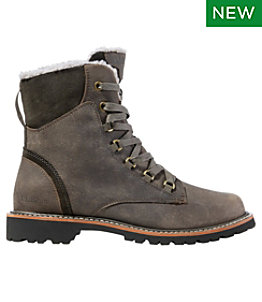 Women's Rugged Cozy Boots, Lace-Up