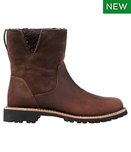 Women's Rugged Cozy Boots, Mid Side-Zip
