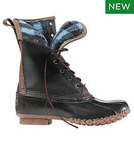"Women's Signature Bean Boots, 10"" Fleece-Lined PrimaLoft"