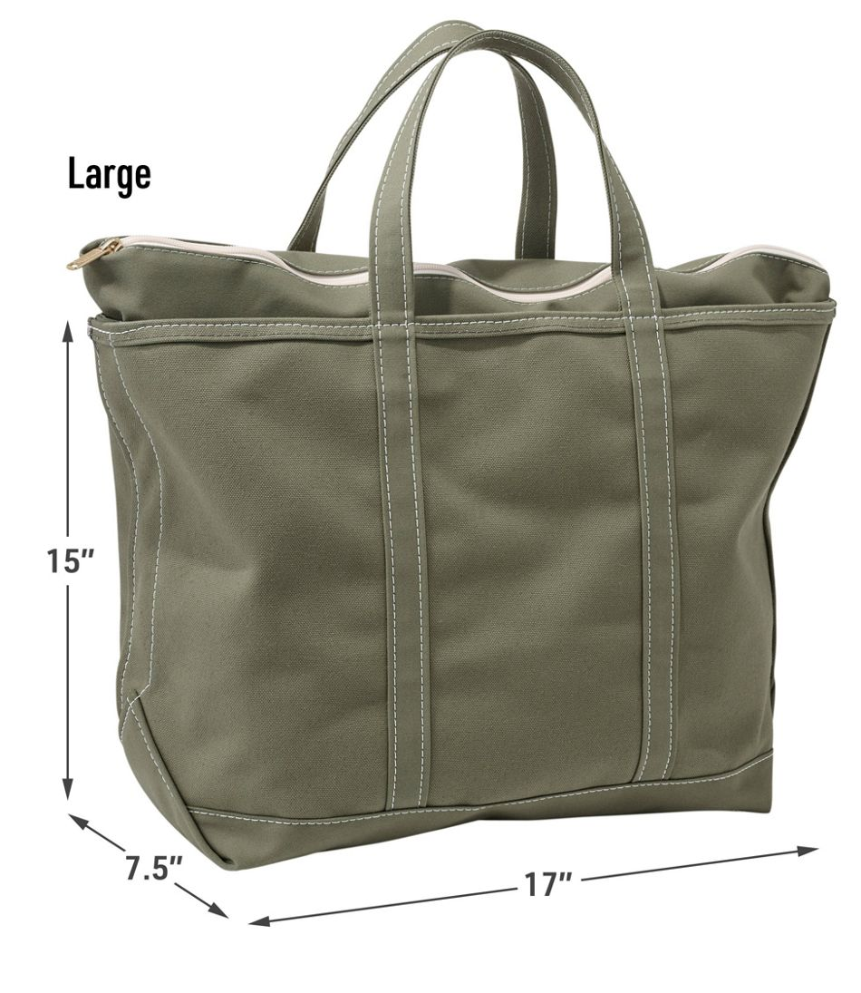 Boat and Tote, Zip-Top, Single-Tone