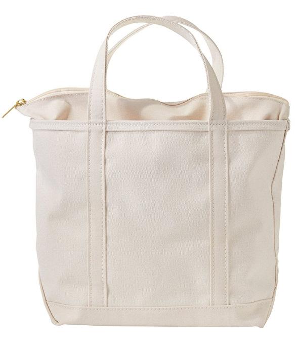 Boat and Tote Bag, Zip-Top Single-Tone Medium, Natural/Natural, large image number 0