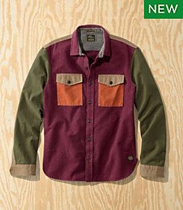 Men's L.L.Bean x Todd Snyder Chamois Shirt with Trim, Colorblock