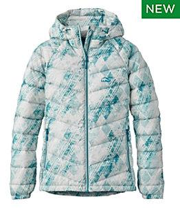 Women's Ultralight 850 Down Hooded Jacket, Print