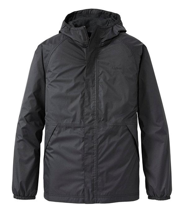 Waterproof Windbreaker Jacket, Black, large image number 0