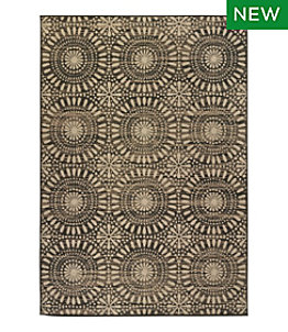 Indoor/Outdoor Sunburst Medallion Rug