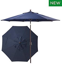 Sunbrella 9' Market Umbrella, Push Button, Aluminum