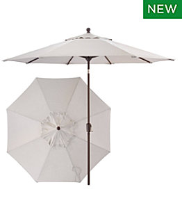 Sunbrella 9' Market Umbrella, Push Button, Aluminum