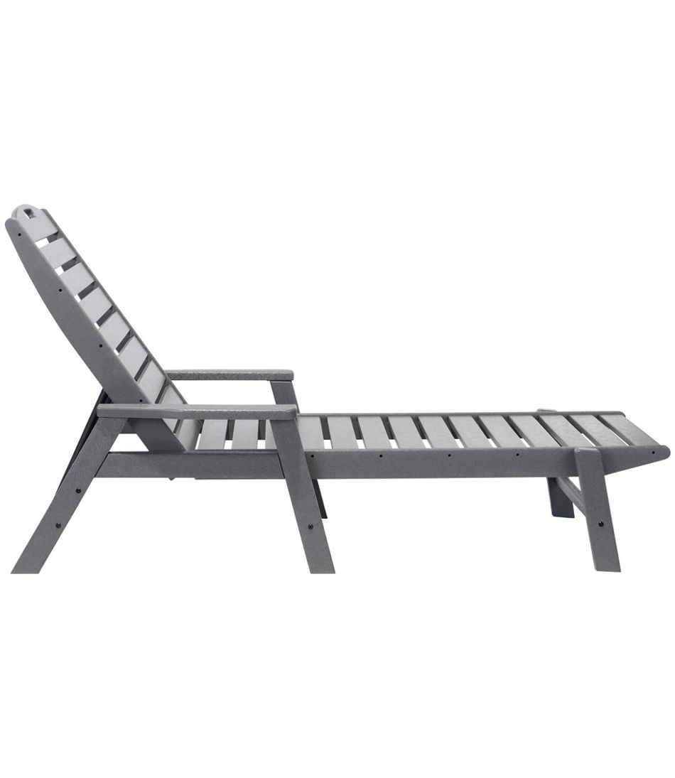 All-Weather Chaise Lounger with Arms