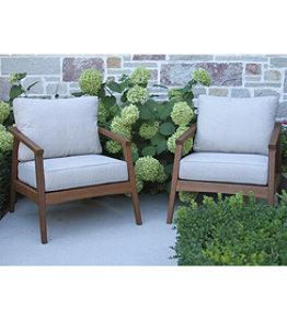 Eucalyptus Patio Chair, Set of Two
