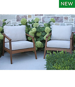 Eucalyptus Patio Chair, Set of Two