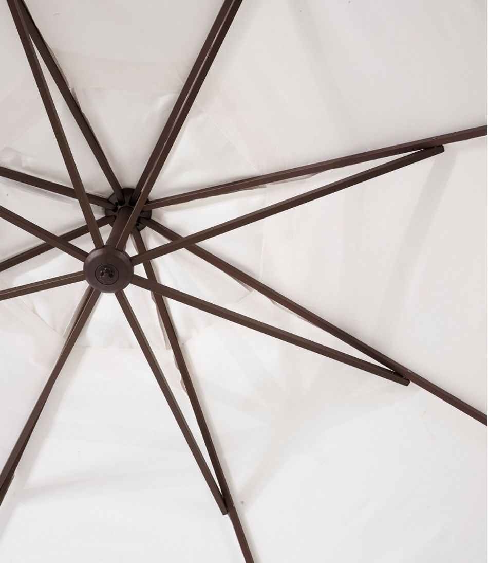 Sunbrella Market Cantilever 10' Octagon Umbrella with Stand Set