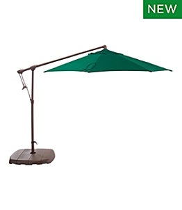Sunbrella Market Cantilever 10' Octagon Umbrella with Stand Set