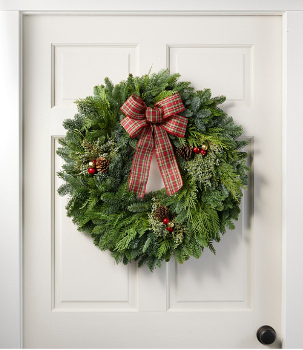 NEW Tartan Wreath, One Color, large image number 0