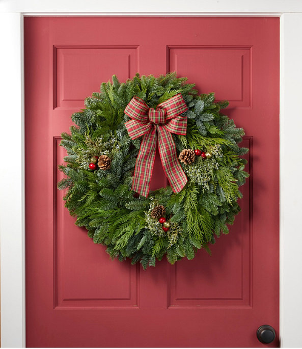 NEW Tartan Wreath, One Color, large image number 1