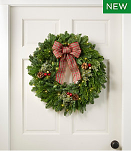 Tartan Lighted Wreath