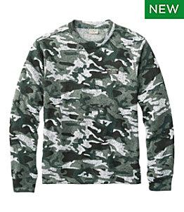 Men's Lightweight Sweater Fleece Top, Long-Sleeve, Print