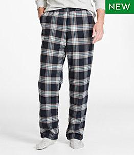 Men's Fleece-Lined Flannel Fireside Lounge Pants
