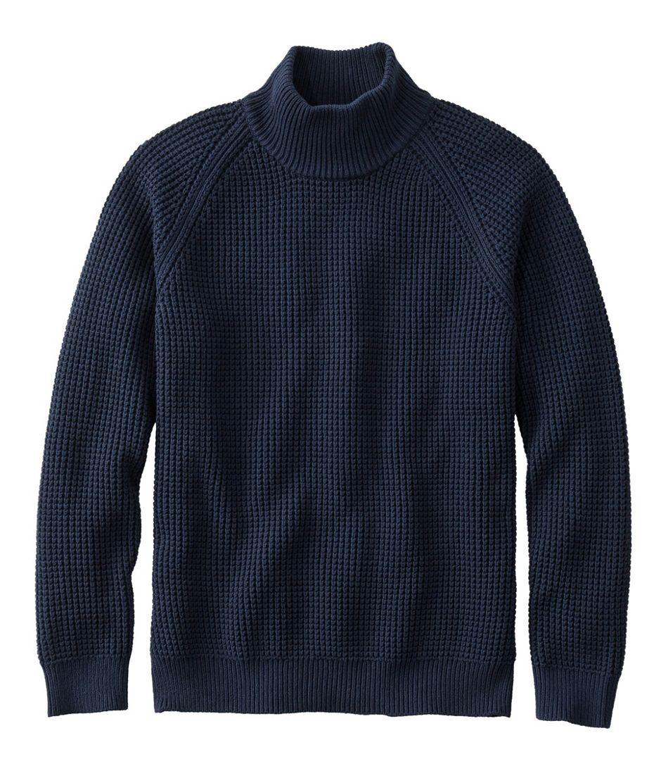 1920s Men's Sweaters, Cardigans, Knitwear Mens L.L.Bean Organic Cotton Sweaters Turtleneck  AT vintagedancer.com